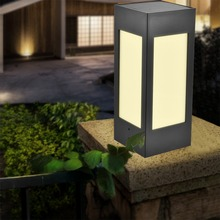 Солнечный столб светильник, садовый светильник, водонепроницаемый, Европейский сад, вилла, внутренний двор, кофейный светильник, наружная настенная дверь, столб, лампа