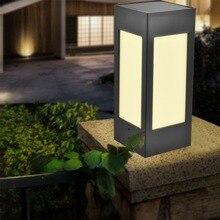 Solar Pillar Light Garden Waterproof European Villa Courtyard Coffee Outdoor Wall Door Lamp
