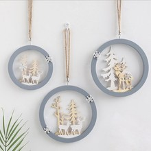 Ins Nordic Elk Wall Pendant Creative Hanging Decorations Three-Dimensional Wooden Bedroom Home Decoration