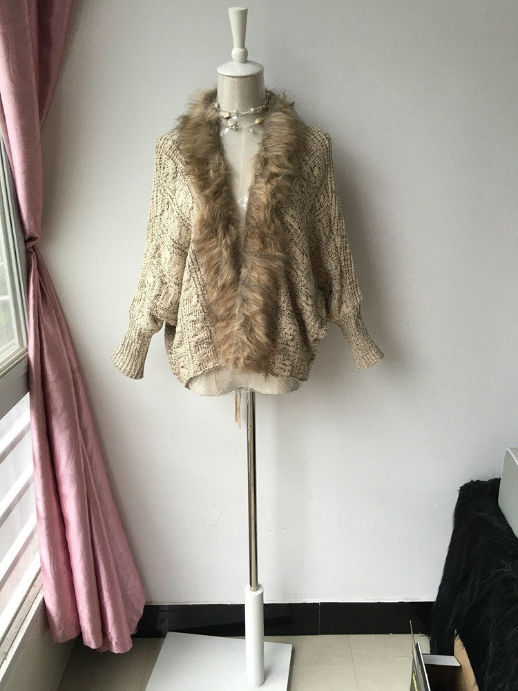 lady spring autumn sweater with fur (1)