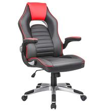 Gaming Chair Computer Executive Chair Foldable Arms High Back Swivel PC Desk Computer Reclining Chair Ergonomic Design giantex ergonomic pu leather mid back swivel gaming chair modern executive computer desk task office chair hw51446