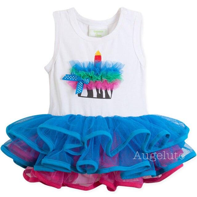 2016 Лето девочка платье ТУТУ платье ползунки рукавов кружева торт платье младенческой новорожденных sleepsuits бальное платье детская одежда
