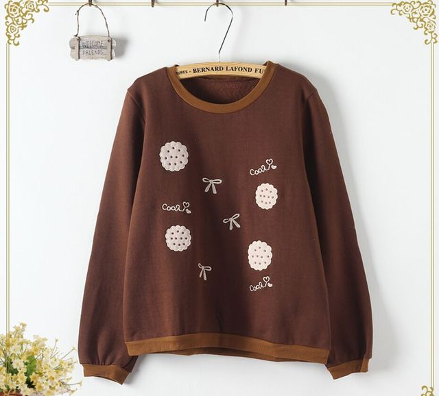 Biscuit Embroidery Kawaii Sweater