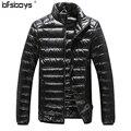 2016 новое прибытие мужская толщиной теплая зима вниз пальто стенд воротник мужчин пуховик 7 чистых цветов 904