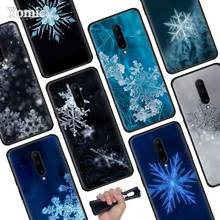 Snowflake Snow Black Soft Case for Oneplus 7 Pro 7 6T 6 Silicone TPU Phone Cases Cover Coque Shell