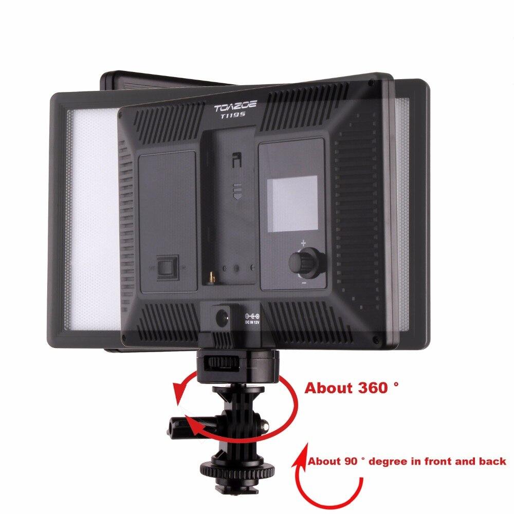 Luz de video LED TOAZOE T119S Pantalla LCD ultradelgada bicolor - Cámara y foto - foto 5