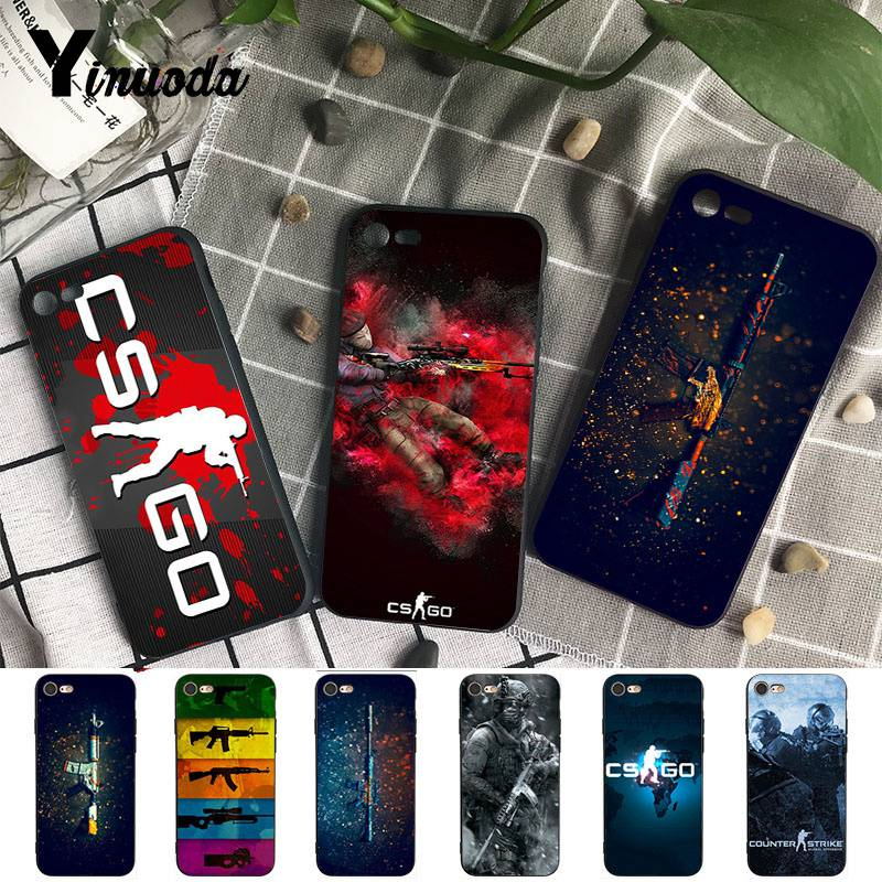 Yinuoda cs go gun game Luxury Coque Shell Phone Case for iPhone X  8 7 6 6S Plus 5 5S SE XR XS XSMAX11 11pro 11promax