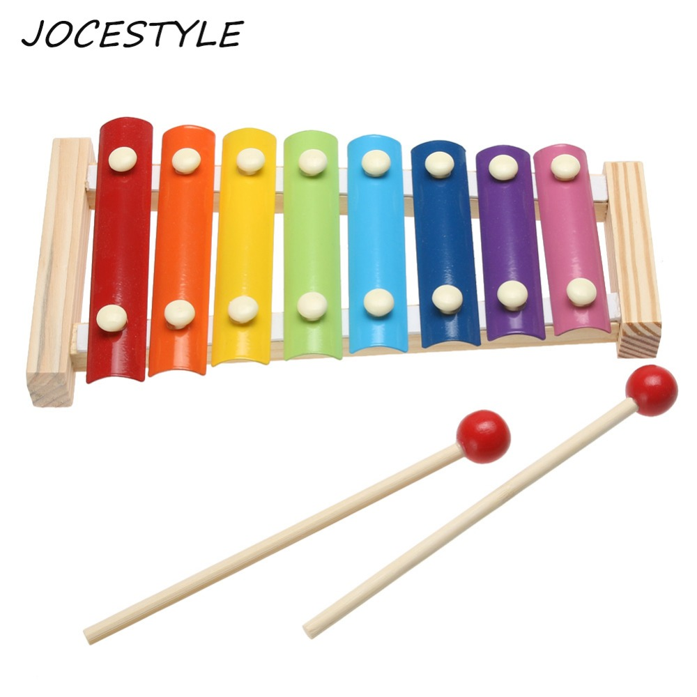 Learning Education Wooden Xylophone For Children Kid Musical Toys Xylophone Wisdom Juguetes 8-Note Educational Music Instrument
