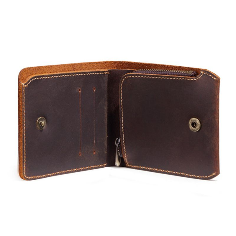 Hot Sale Business Bifold Wallet Men's Genuine Leather Credit ID Card Holder Case Purse Gift New