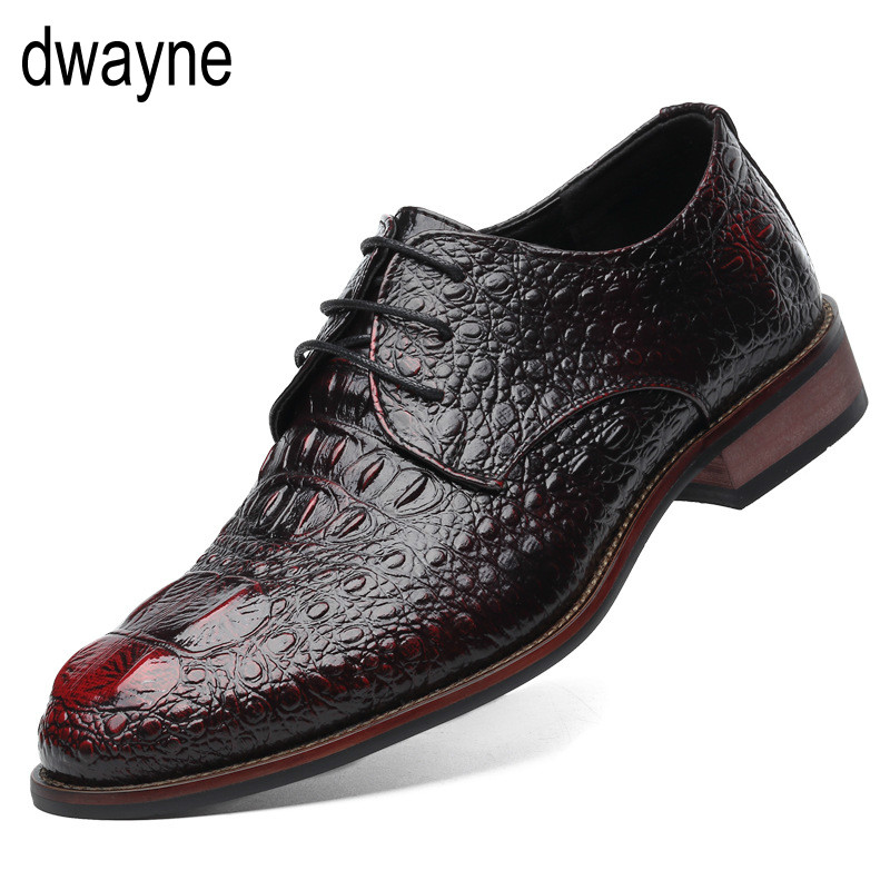 64744d40ab75f British Style Men s Genuine Leather Crocodile Shoes Classic Business Casual Shoes  Fashion Handmade Dress Flats Shoes Oxfords jkm