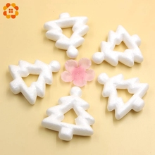 10PCS 75MM Hollow Christmas Tree White Modelling Polystyrene Styrofoam For Party Decoration DIY Craft Supplies