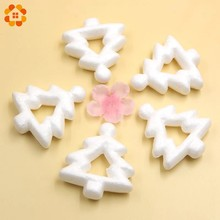 10PCS 75MM Hollow Christmas Tree White Modelling Polystyrene Styrofoam Tree For Christmas Party Decoration DIY Craft Supplies(China)