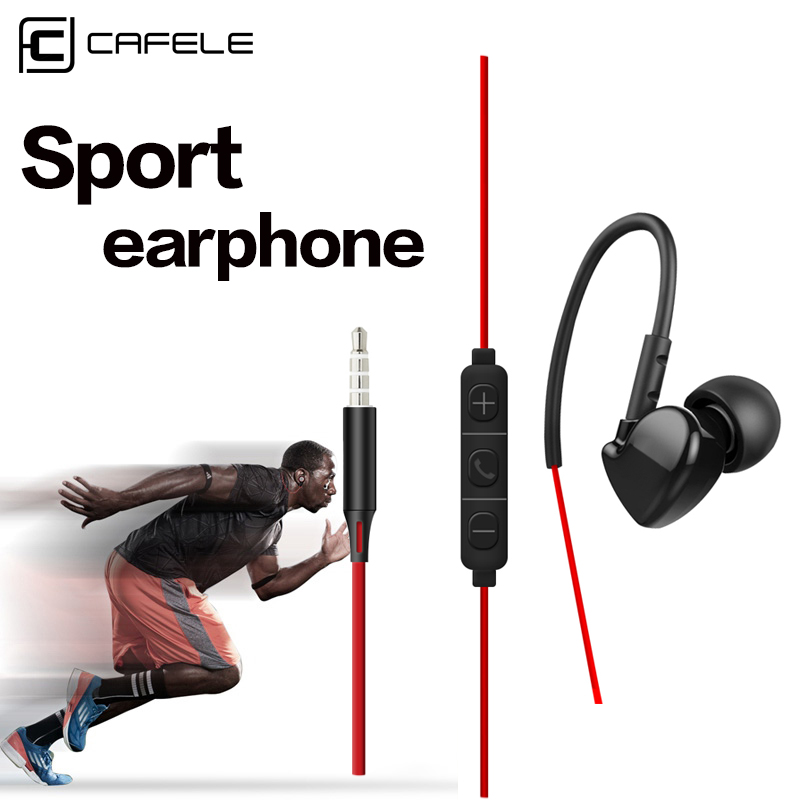 Cafele 3.5mm In-ear Sport Earphones Super Bass Hifi Running Earbuds Stereo Earpod With For iPhone 5s 6s plus Samsung MP3 MP4 glaupsus gj01 in ear 3 5mm super bass microphone earphones earplug stereo metal hifi in ear earbuds for iphone mobile phone