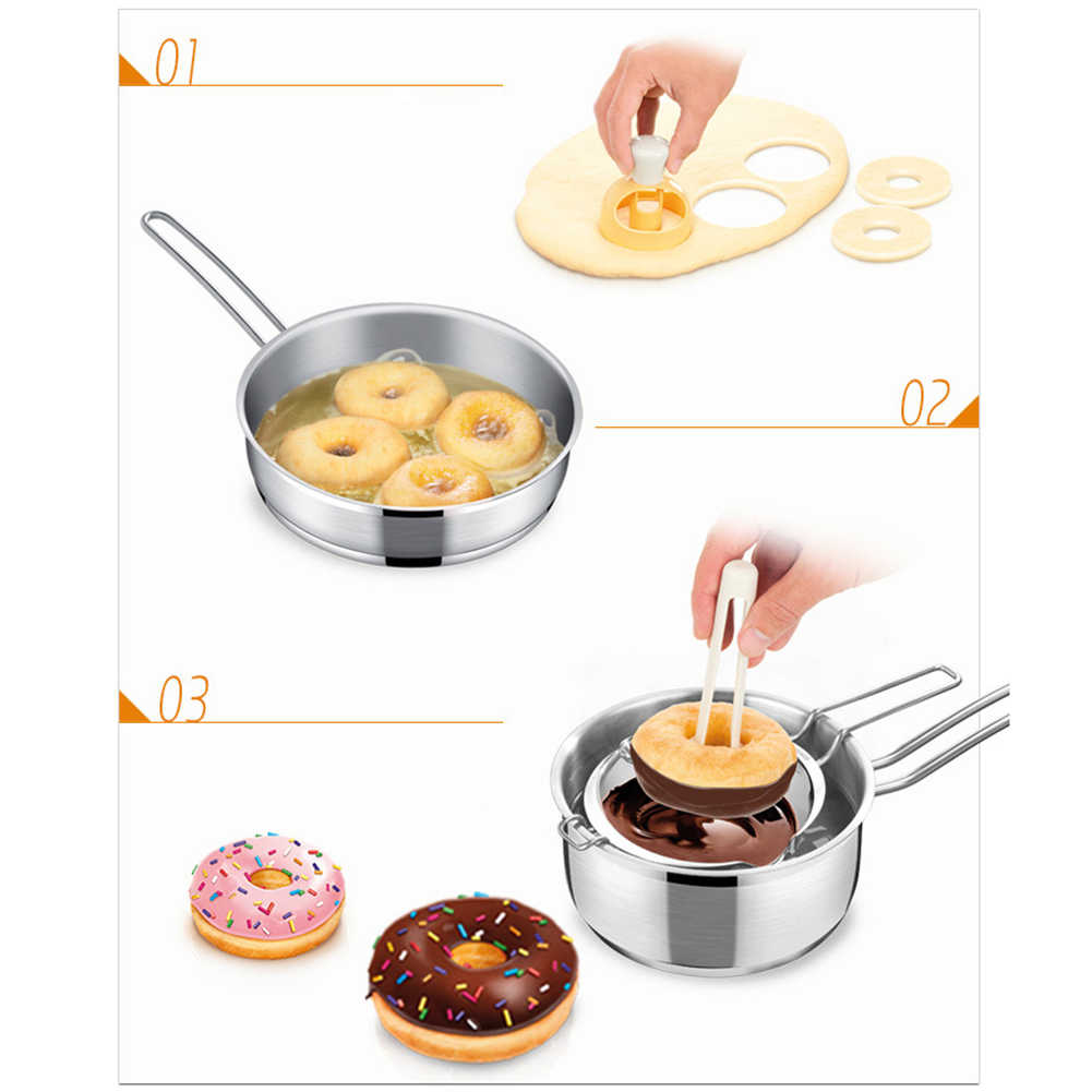 Donut Mold Kitchen Desserts Bread Patisserie Bakery Baking Tools Cutter DIY Food Cookie Cake Stencil Doughnut Maker Mould