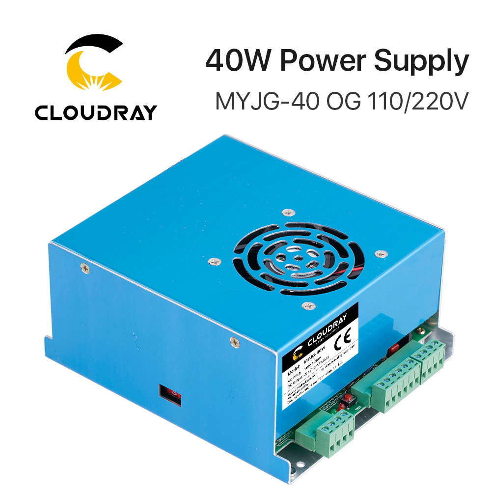 цена на Cloudray 50W CO2 Laser Power Supply for CO2 Laser Engraving Cutting Machine MYJG-50