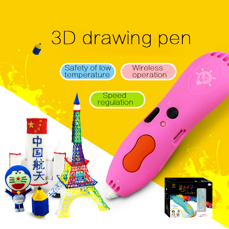 1 75mm ABS PLA DIY Metal USB 3D Printing Graffiti Pen 3D Pen Painting Pen Handle