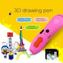 1.75mm ABS/PLA DIY Metal USB 3D Impresión Graffiti Pen 3D pluma Pluma de La Pintura Mango Regalo Creativo Juguetes Para Niños de Dibujo diseño