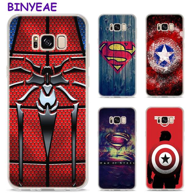 half off 6f8fe 189ac US $2.84 |BINYEAE Marvel comic Captain America Style Clear Soft TPU Phone  Cases For Samsung Galaxy S9 S8 Plus S7 S6 S5 S4 Mini Edge-in Fitted Cases  ...