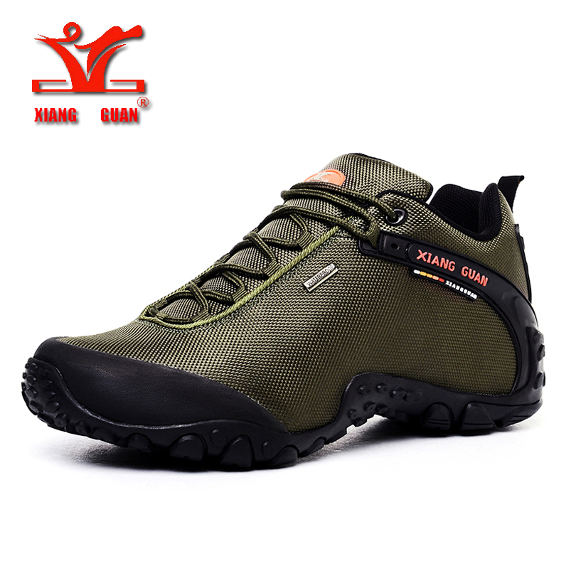 цена XIANGGUAN Man Hiking Shoes for Men Athletic Trekking Boots Zapatillas Sports Climbing Shoe Outdoor Walking Sneskers36-48