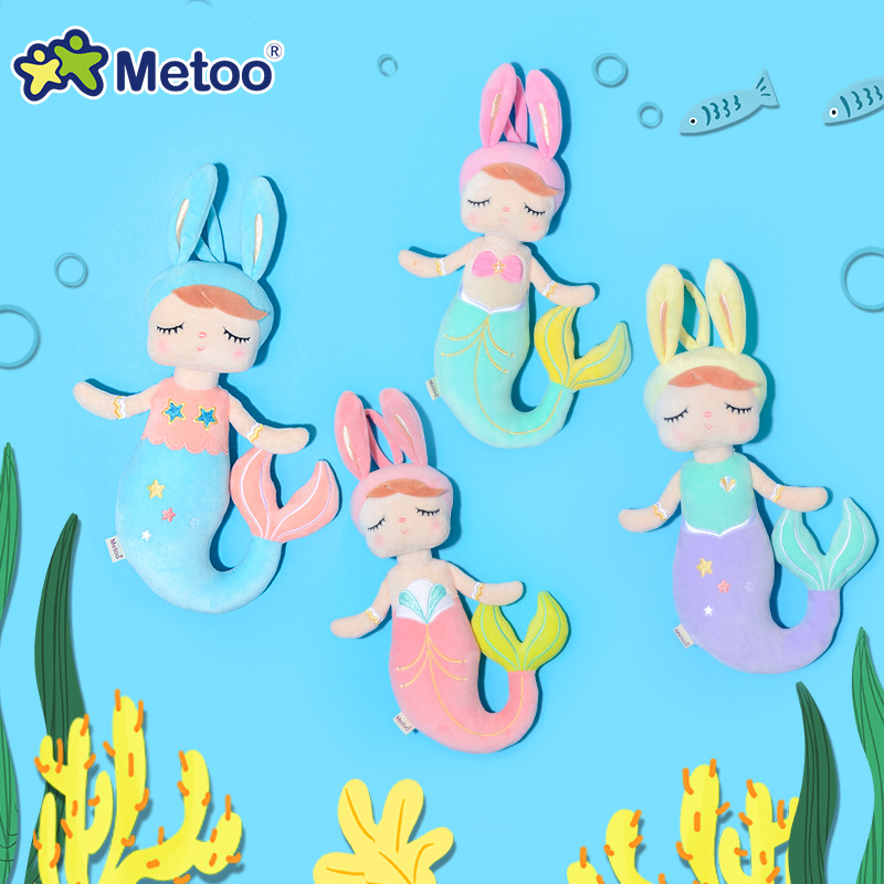 Metoo Doll Plush Toys For Girls Baby Beautiful Pretty Mermaid Stuffed Animals For Kids