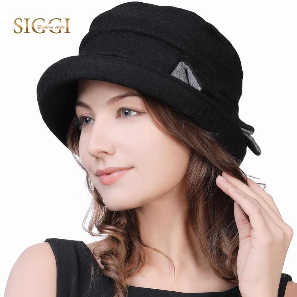 2004757c FANCET Ladies Wool Cloche Round Hats For Women Winter Warm 1920s Vintage Fedora  Bucket Bowler Hats