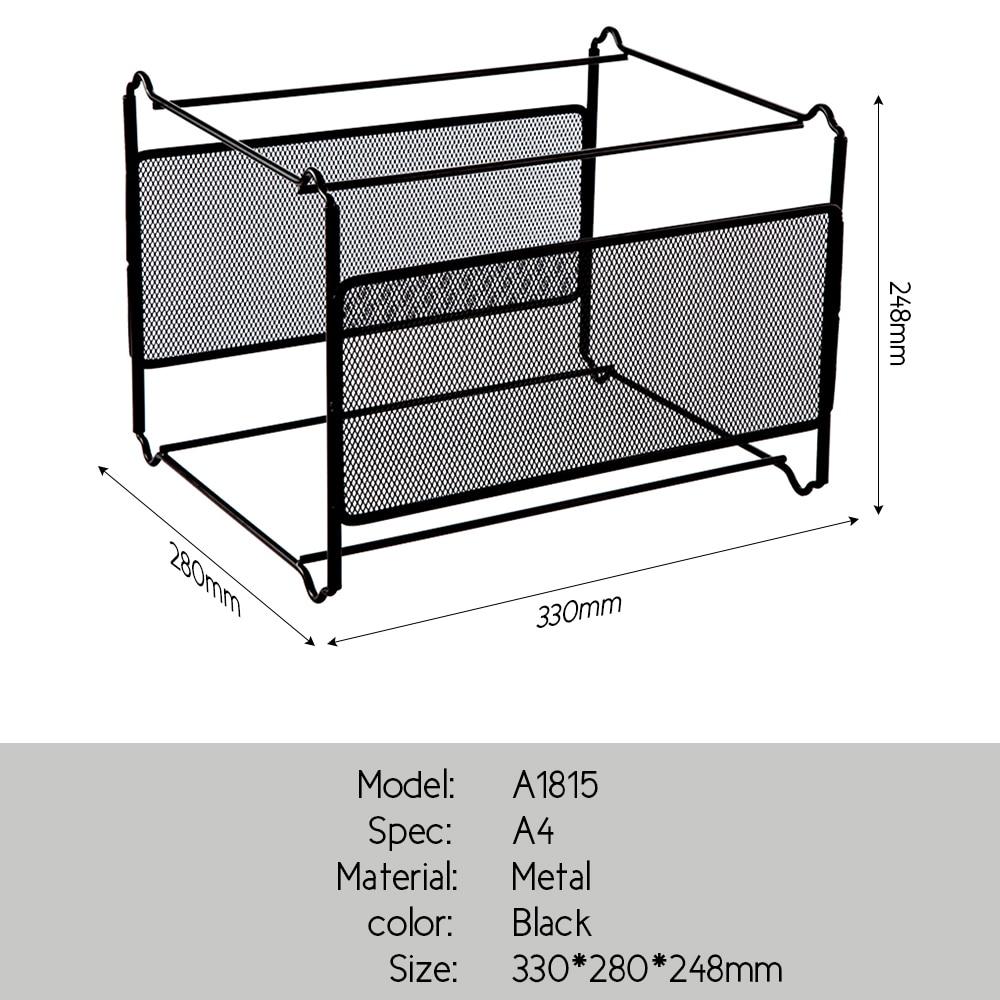 Comix Metal Desk Accessories Mesh Hanging File Folder Frame ...