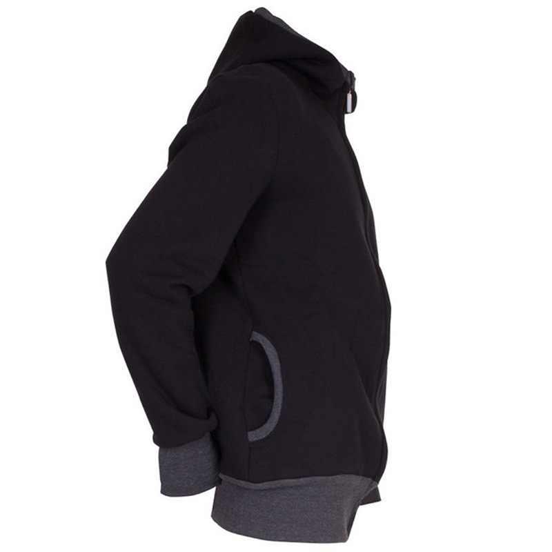 ฤดูหนาว Dad & Mom Baby Carrier Hoodies O-Neck คลอดบุตร Hoodies ตั้งครรภ์ Casual Hooded Outerwear ผ้าฝ้ายความอบอุ่น