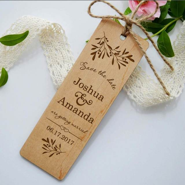 online shop wooden save the date bookmark wood wedding invitation