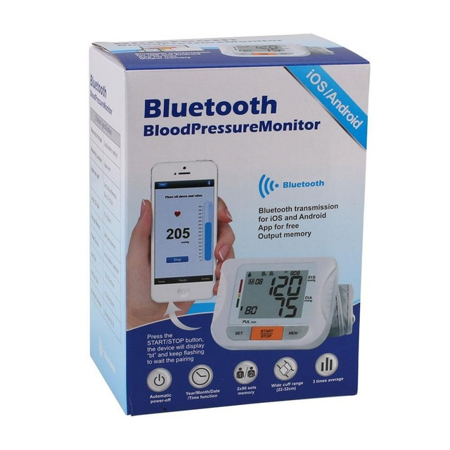 APP Intelligent Bluetooth Arm Digital Blood Pressure Pulse Monitor Health Care For IOS Android