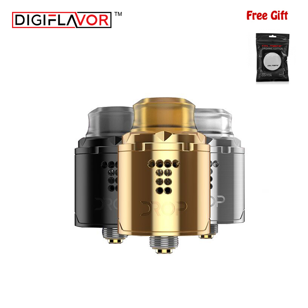 Original Digiflavor Drop Solo RDA single coil 22mm two caps standard E cigarette 510 and BF Squonk 510 pin deep base VS ammit 25 цена