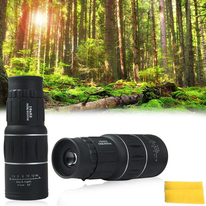 Más nuevo 16x52 dual Focus zoom lente óptica día visión nocturna armoring viajes telescopio monocular turismo alcance binoculares