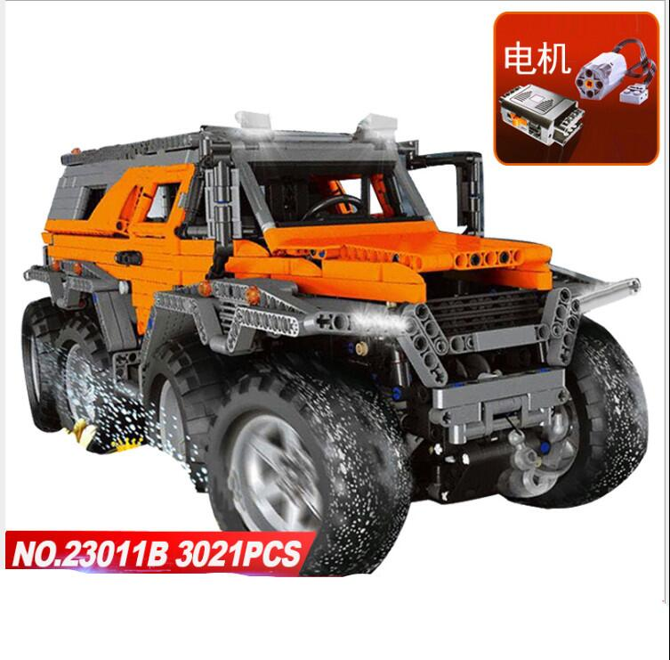 LEPIN 23011&23011B Technic Series Off-road Vehicle Diy Model Building Kits Block Bricks Educational Toys For Children gifts 5360 lepin 24020 creative series features robo explorer set 31062 model building kits block bricks toys gift for children