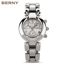 BERNY Stainless Steel Wristwatch Bracelet Quartz Watch Woman Ladies Watches Clock Female Dress Designer Watches Girl Gift 2814L