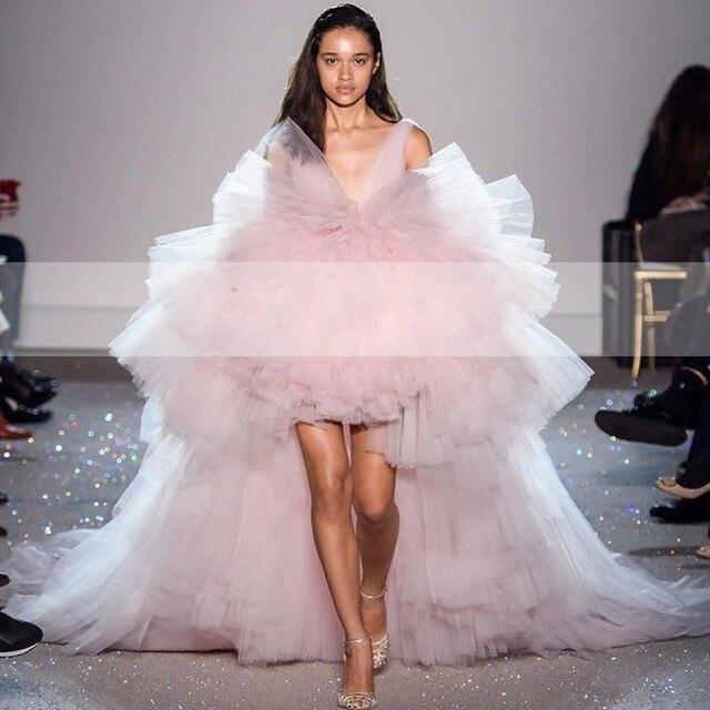 Feestjurken 2019.High Quality Pink Evening Dress Gala Jurken 2019 Robe De Soriee