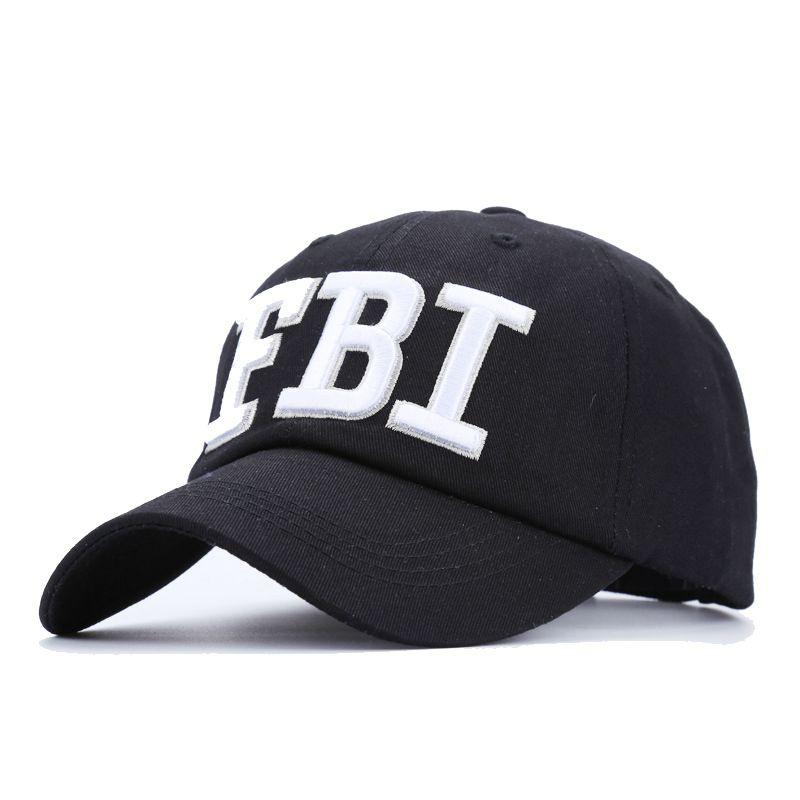 Prix pour 2017 FBI Broderie Snapback Casquette de baseball Hommes Femmes noir hanche hop chapeaux casual papa chapeau Été Automne Os Casquette Gorras JY-311