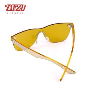 Image 5 - 20/20 di marca di Occhiali Da Sole Stile Unico Sexy Delle Donne Lente Piatta Senza Montatura Occhiali Da Sole Per Le Donne Shades Vintage Oculos Gafas