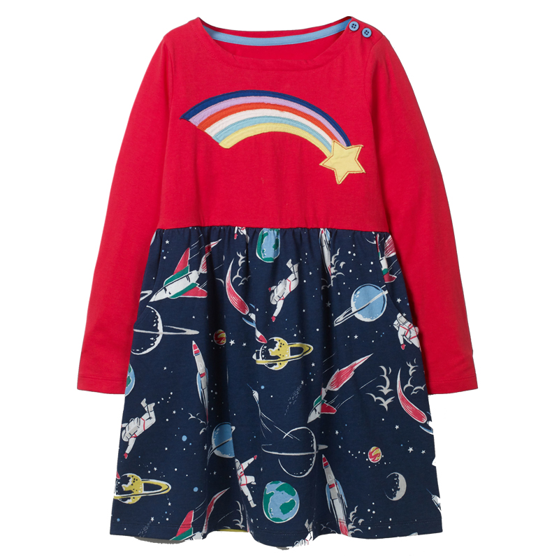 Baby Clothes Girls Dresses 2018 Autumn Winter Long Sleeve Girl Dress Children Clothing Kids Cotton Tunic Jersey Princess Dress цены онлайн