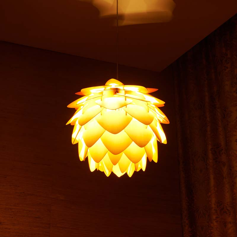 New Pinecone Pendant Lights Nordic Wood Wooden Home Living room Dining Room Cafe Restaurant lighting Pendant light-in Pendant Lights from Lights & Lighting    2