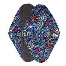 1 шт. женские прокладки антибактериальная, с бамбуковым углем волокна гигиенические прокладки для полотенец непромокаемые трусики вкладыши многоразовые прокладки