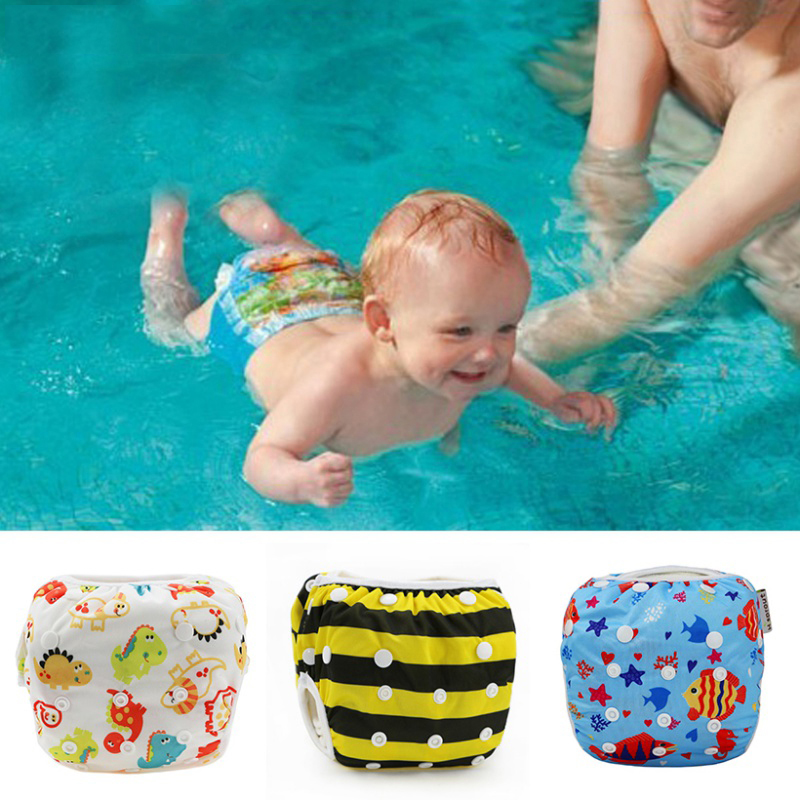 Unisex One Size Waterproof Adjustable Swim Diaper Pool Pant 10-40 lbs Swim Diaper Baby Reusable Washable Pool Cover 27 Color j2