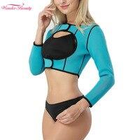 Wonder-Beauty 2017 new Blue XS - 3XL women sweat enhancing waist corset waist trainer suit sexy vest hot shape-E