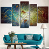 Frameless 5Peice Wall Modular Painting Abstract Tree Landscape Print Paints Wall Art Pictures On The Wall