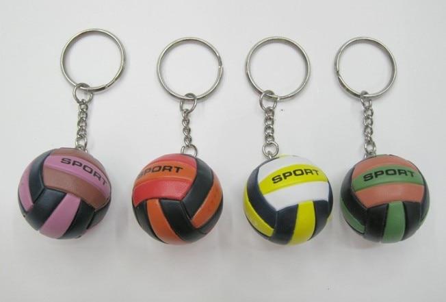 20pcs Volleyball Bag Pendant Mini Volleyball Gift Plastic Small Ornaments Sports Advertisement Souvenirs