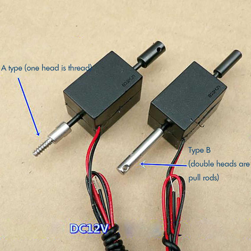 Self-retaining (two-way) Electromagnet DC 12V Push-pull Solenoid Electromagnet for DIY Automation Equipment Stroke 5 Mm