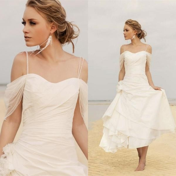Off white wedding dresses beach style