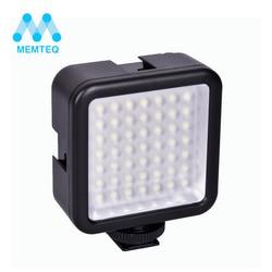 MEMTEQ brand new photo flash Mini Pro LED-49 Video Light 49 LED Flash Light for DSLR Camera Camcorder DVR DV camera light black