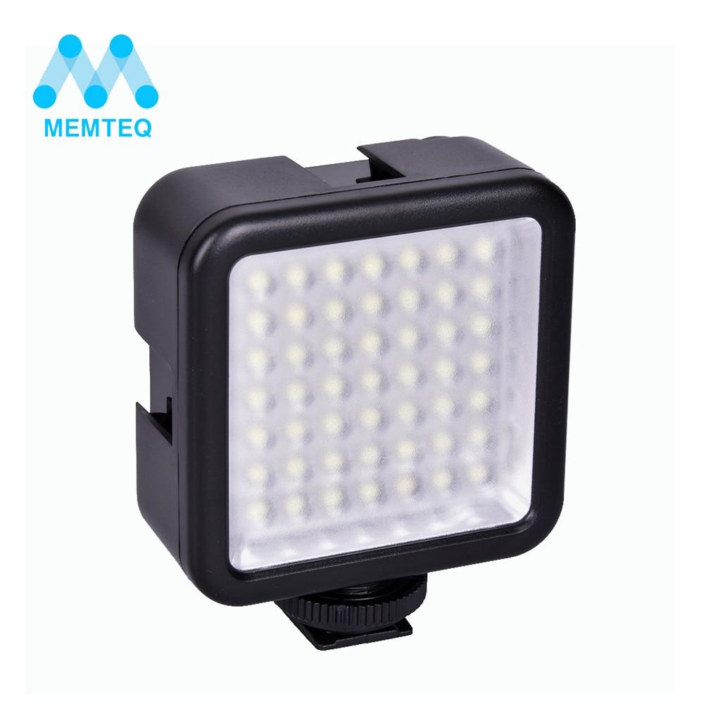 MEMTEQ marca novo flash de foto Mini Pro LED-49 49 Luz de Vídeo LED Flash Luz para DSLR Camera Camcorder DVR câmera DV luz negra