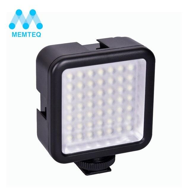 MEMTEQ thương hiệu mới ảnh flash Mini Pro LED-49 Video Ánh Sáng 49 LED Ánh Sáng Đèn Flash cho DSLR Máy Ảnh Máy Quay Phim DVR DV máy ảnh ánh sáng màu đen