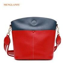 Genuine leather bag women handbags 2017 Autumn and winter Korean famale bucket bag Shoulder Messenger Bag Lady crossbody handbag