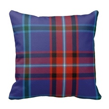 Beautiful Glenn Tartan Cushion Cover (Size: 45x45cm) Free Shipping